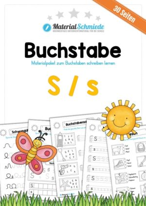 Materialpaket: Buchstabe S/s schreiben lernen