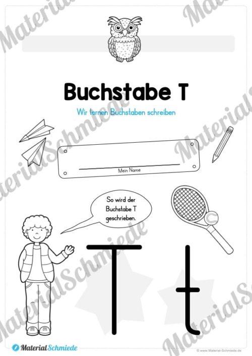 Materialpaket: Buchstabe T/t schreiben lernen (Vorschau 01)