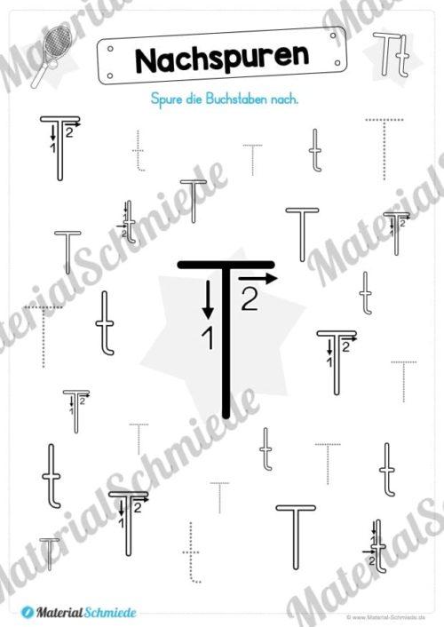 Materialpaket: Buchstabe T/t schreiben lernen (Vorschau 04)