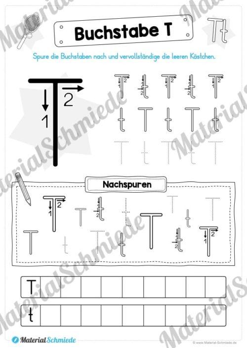 Materialpaket: Buchstabe T/t schreiben lernen (Vorschau 05)