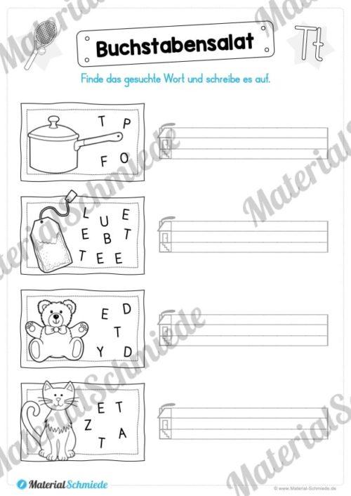 Materialpaket: Buchstabe T/t schreiben lernen (Vorschau 06)