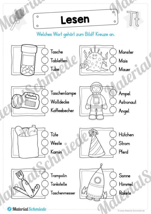 Materialpaket: Buchstabe T/t schreiben lernen (Vorschau 08)