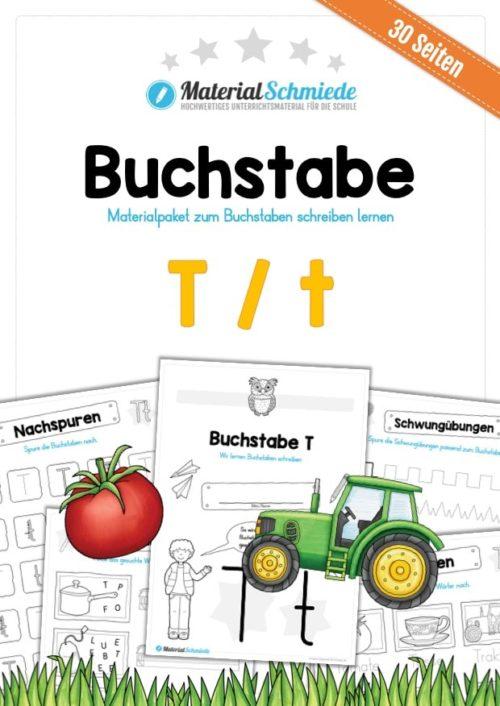 Materialpaket: Buchstabe T/t schreiben lernen