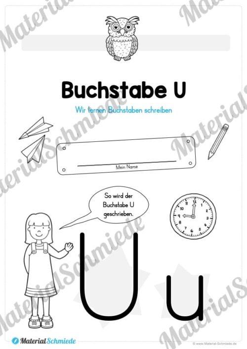 Materialpaket: Buchstabe U/u schreiben lernen (Vorschau 01)
