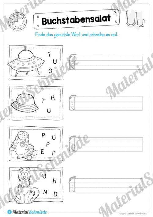 Materialpaket: Buchstabe U/u schreiben lernen (Vorschau 06)