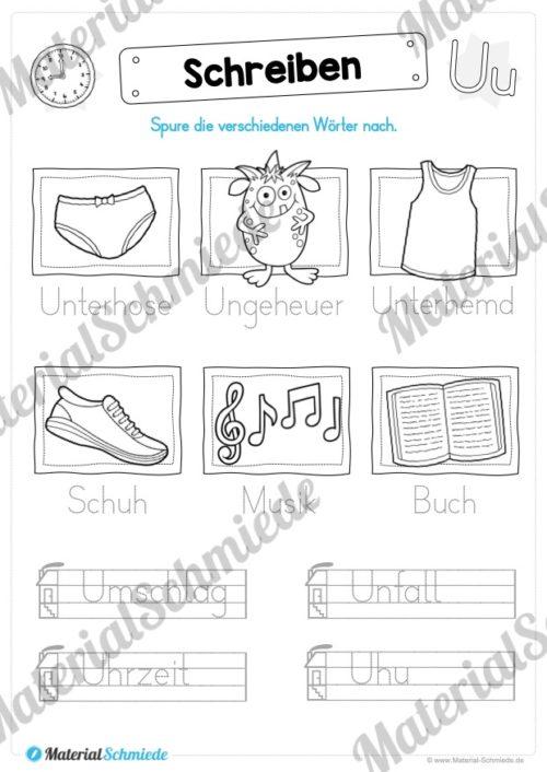 Materialpaket: Buchstabe U/u schreiben lernen (Vorschau 07)