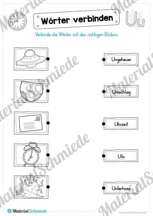 Materialpaket: Buchstabe U/u schreiben lernen (Vorschau 08)