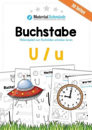 Materialpaket: Buchstabe U/u schreiben lernen