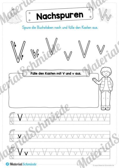 Materialpaket: Buchstabe V/v schreiben lernen (Vorschau 03)