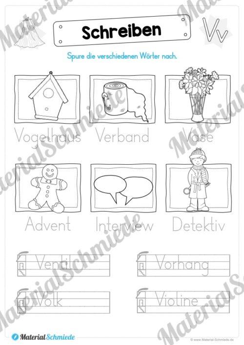 Materialpaket: Buchstabe V/v schreiben lernen (Vorschau 06)
