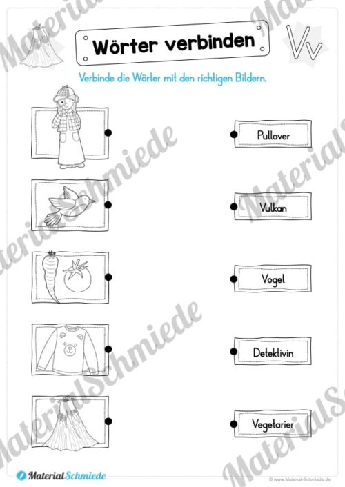 Materialpaket: Buchstabe V/v schreiben lernen (Vorschau 07)