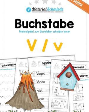 Materialpaket: Buchstabe V/v schreiben lernen