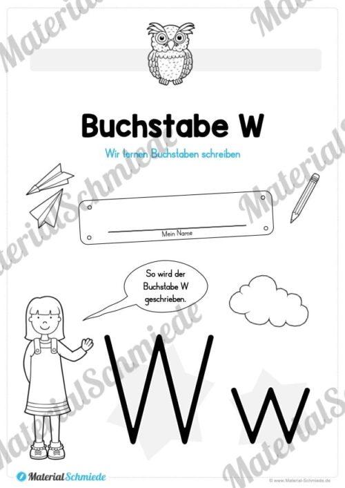 Materialpaket: Buchstabe W/w schreiben lernen (Vorschau 01)