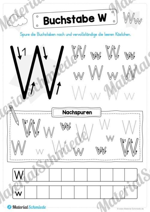 Materialpaket: Buchstabe W/w schreiben lernen (Vorschau 04)