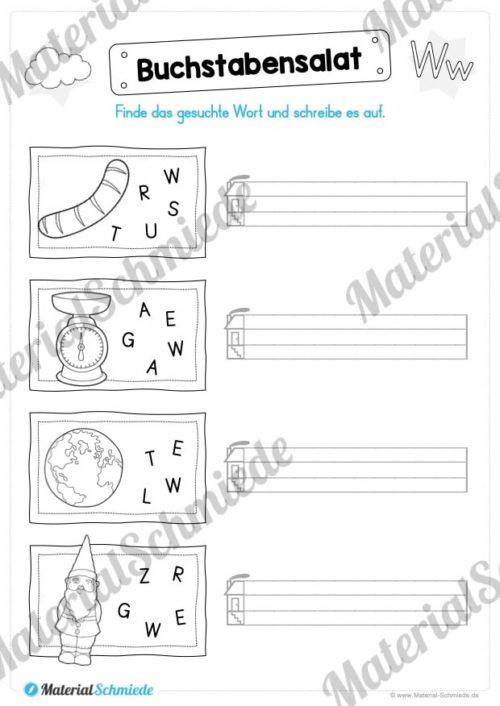 Materialpaket: Buchstabe W/w schreiben lernen (Vorschau 07)