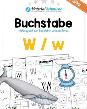 Materialpaket: Buchstabe W/w schreiben lernen