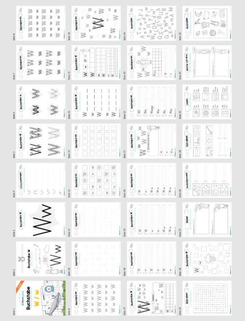 Materialpaket: Buchstabe W/w schreiben lernen (Überblick)