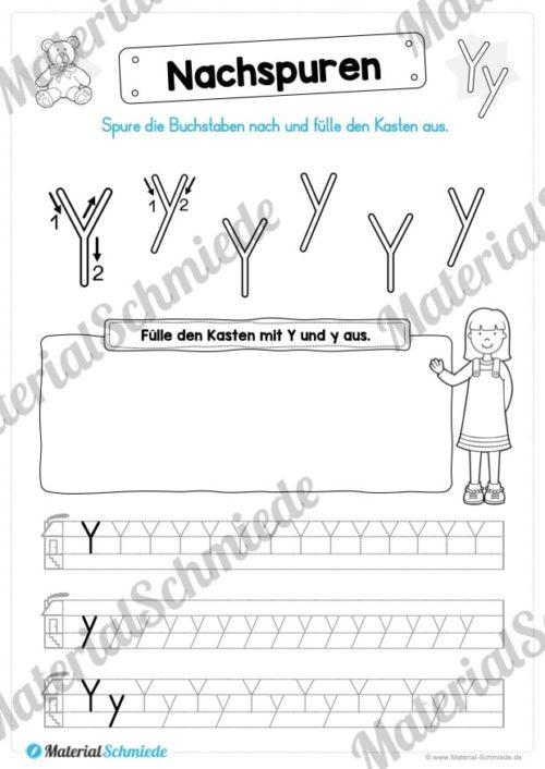 Materialpaket: Buchstabe Y/y schreiben lernen (Vorschau 04)