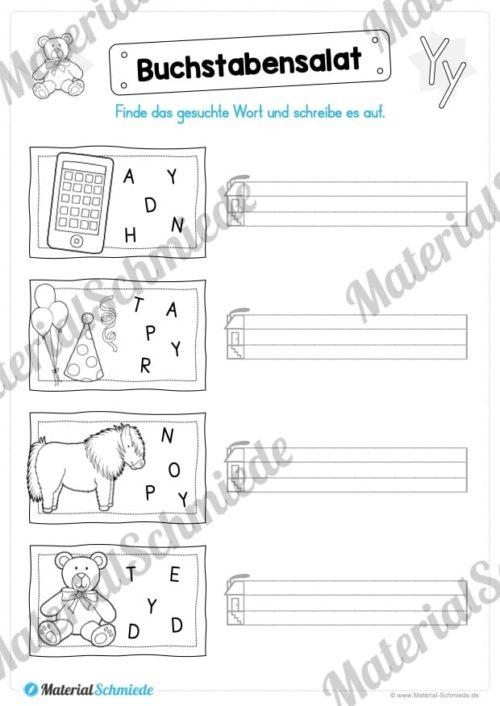 Materialpaket: Buchstabe Y/y schreiben lernen (Vorschau 05)