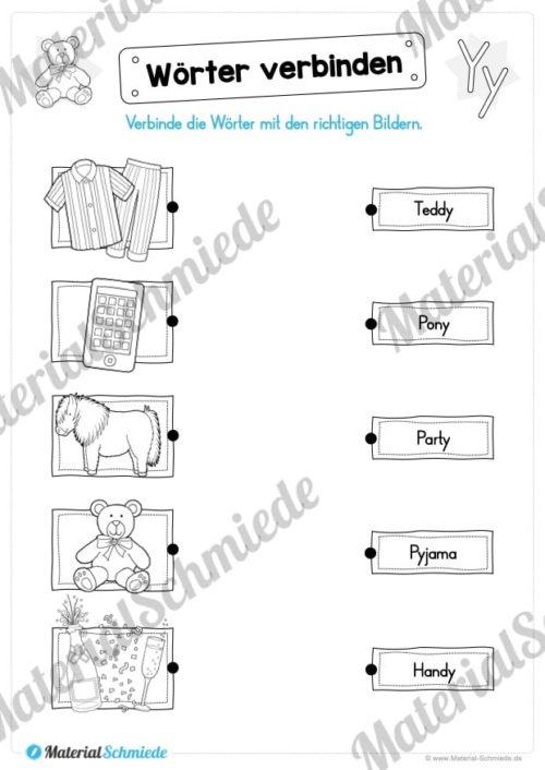 Materialpaket: Buchstabe Y/y schreiben lernen (Vorschau 07)