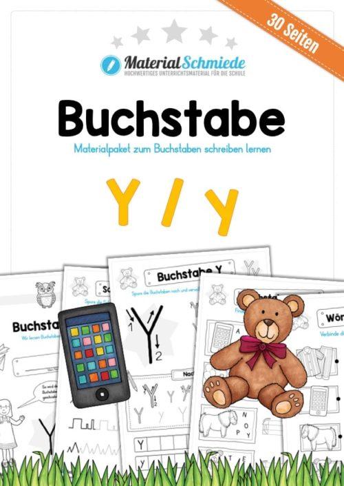 Materialpaket: Buchstabe Y/y schreiben lernen