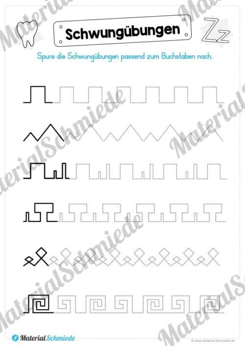 Materialpaket: Buchstabe Z/z schreiben lernen (Vorschau 02)