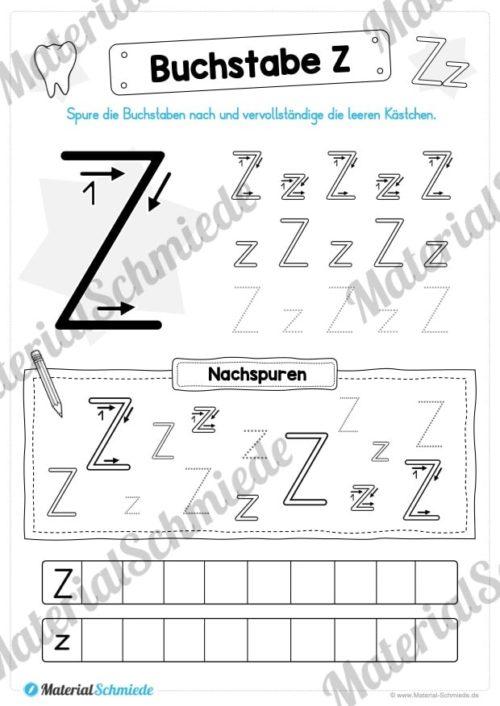 Materialpaket: Buchstabe Z/z schreiben lernen (Vorschau 04)