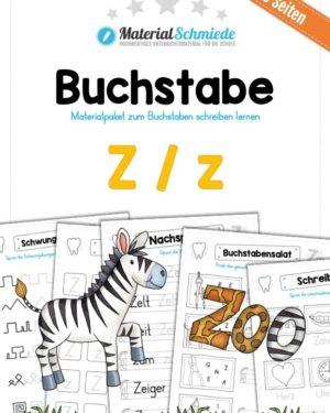 Materialpaket: Buchstabe Z/z schreiben lernen