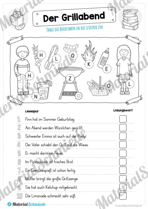 10 Lesespuren (MaterialPaket 01) - Vorschau 06