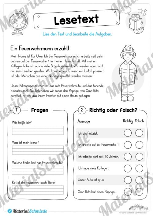 Materialpaket Lesetexte (Vorschau 01)
