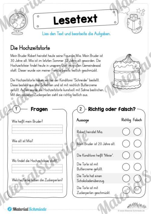 Materialpaket Lesetexte (Vorschau 02)