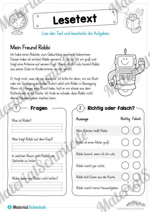 Materialpaket Lesetexte (Vorschau 04)