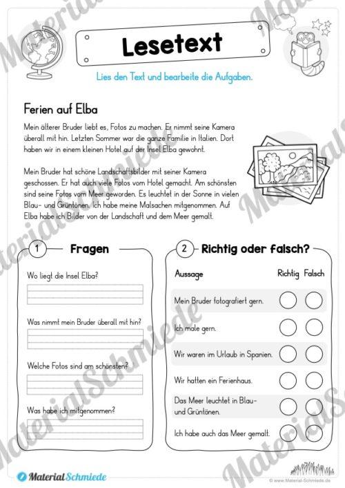 Materialpaket Lesetexte (Vorschau 06)
