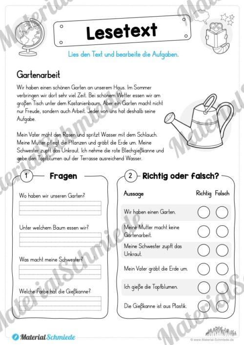 Materialpaket Lesetexte (Vorschau 09)