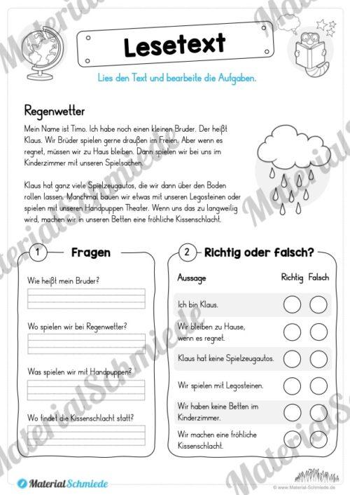 Materialpaket Lesetexte (Vorschau 10)