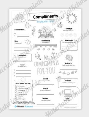 Arbeitsblatt Englisch: Steckbrief Compliments