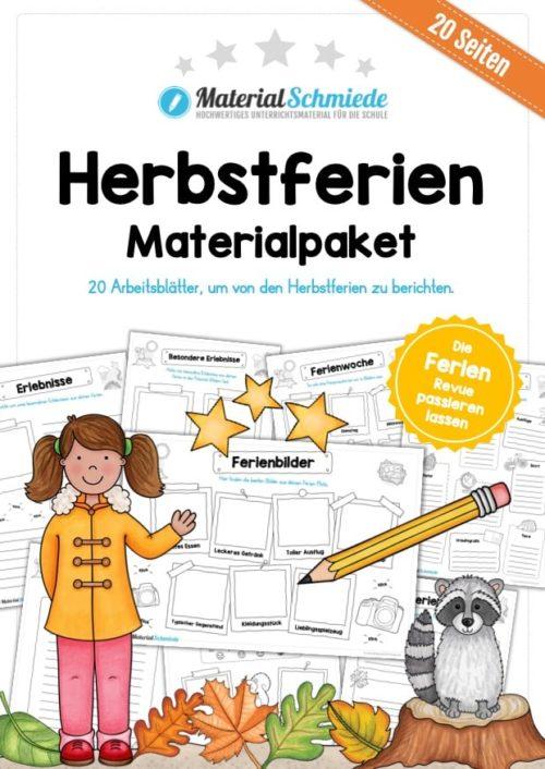 Materialpaket Herbstferien (20 Arbeitsblätter)