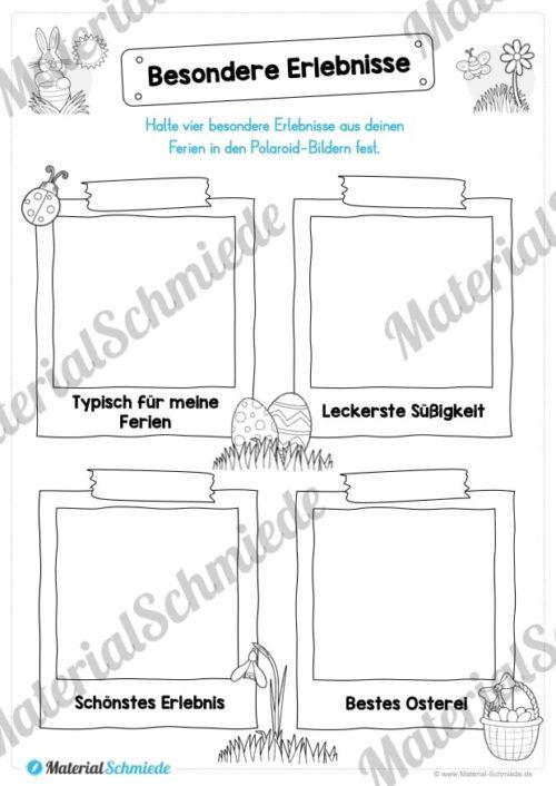 Materialpaket Osterferien: 20 Arbeitsblätter (Vorschau 01)