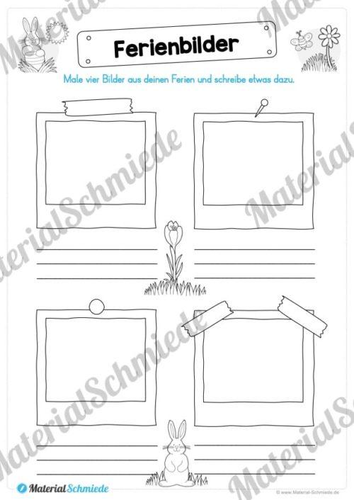 Materialpaket Osterferien: 20 Arbeitsblätter (Vorschau 02)