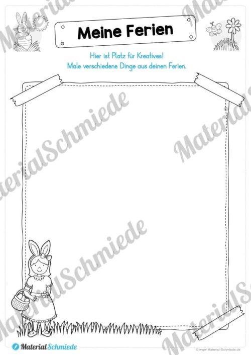 Materialpaket Osterferien: 20 Arbeitsblätter (Vorschau 03)