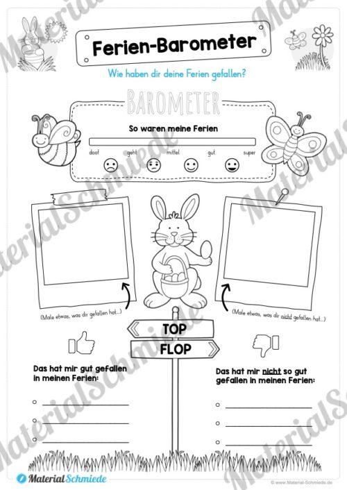 Materialpaket Osterferien: 20 Arbeitsblätter (Vorschau 06)
