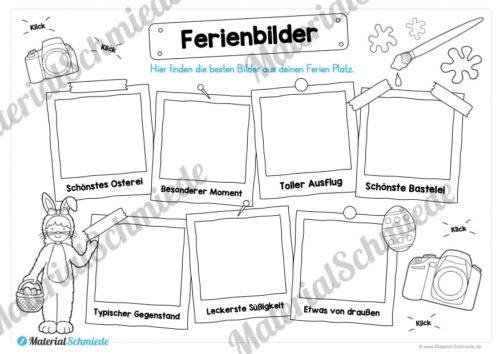 Materialpaket Osterferien: 20 Arbeitsblätter (Vorschau 08)
