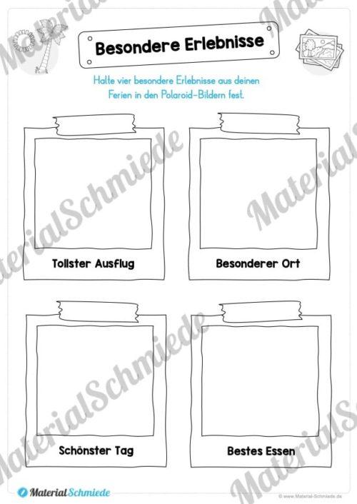 Sommerferien Materialpaket (Vorschau 03)