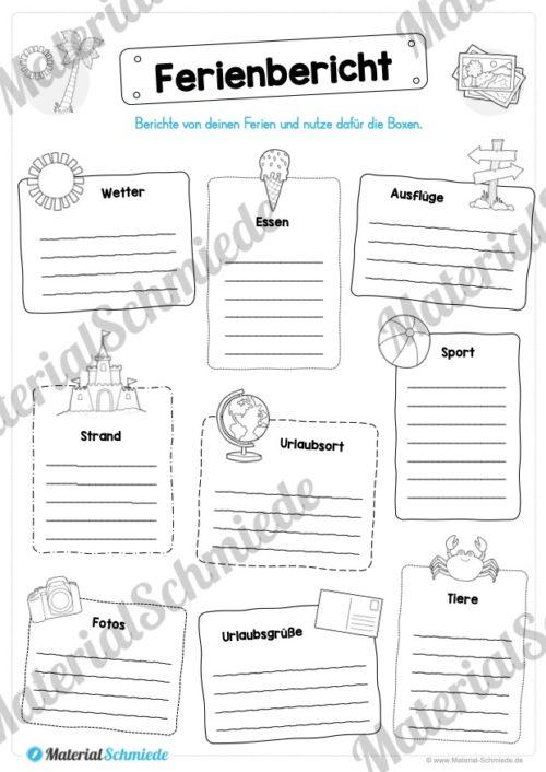 Sommerferien Materialpaket (Vorschau 07)