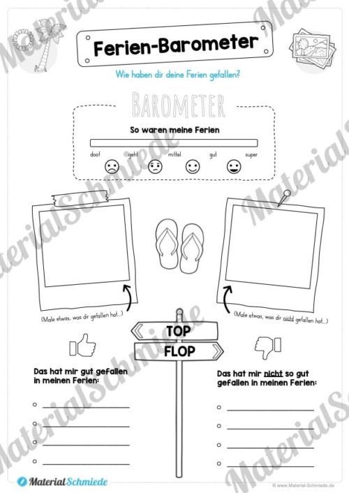 Sommerferien Materialpaket (Vorschau 09)