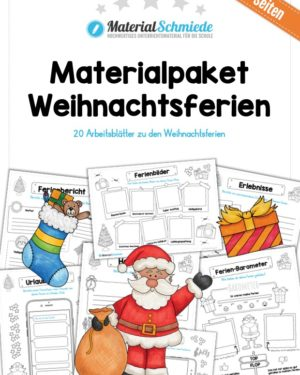 20 Arbeitsblätter zu den Weihnachtsferien