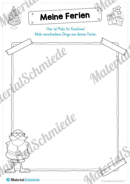 20 Arbeitsblätter zu den Weihnachtsferien (Vorschau 02)