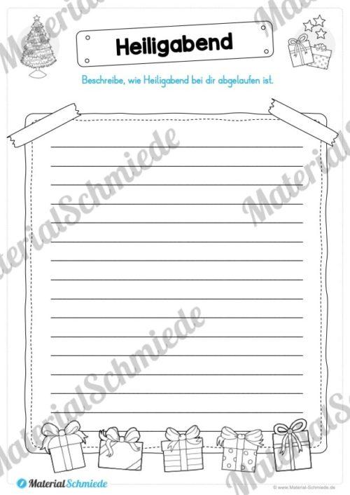 20 Arbeitsblätter zu den Weihnachtsferien (Vorschau 05)
