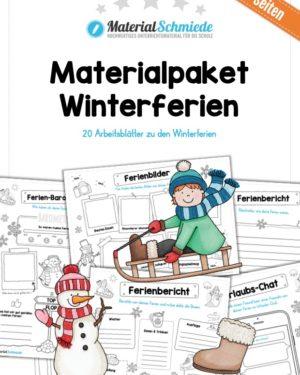 20 Arbeitsblätter zu den Winterferien