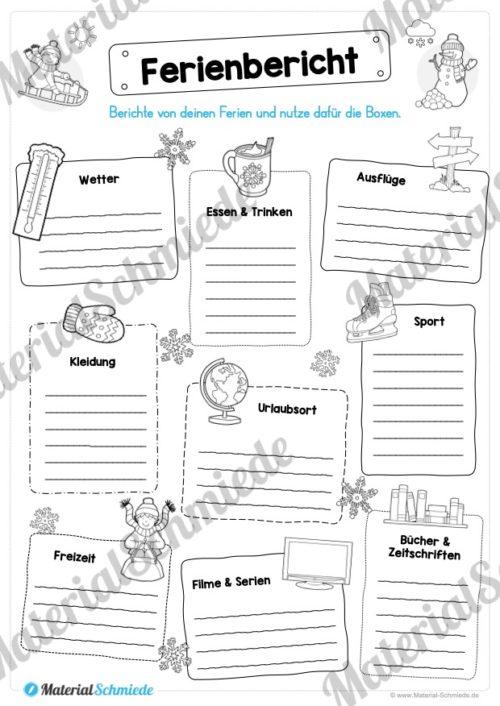 20 Arbeitsblätter zu den Winterferien (Vorschau 03)